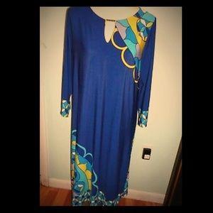 HAANI Vintage loose fitting cobalt dress